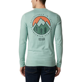 Columbia Cades Cove T-shirt met print Heren, aqua tone outdoor park